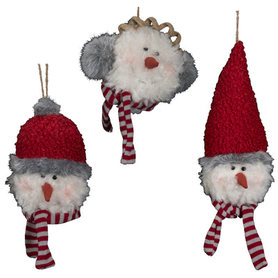 Fabric Snowmen Head- 3