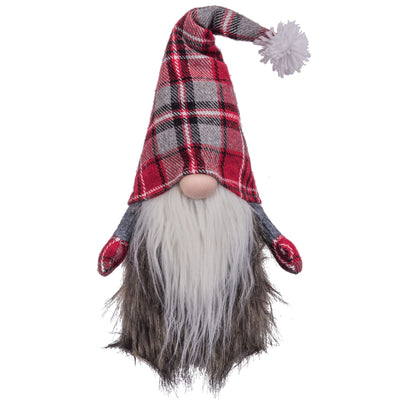 Fur Gnome W/ Plaid Hat