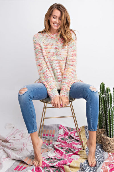 Slouchy Multi Color Sweater