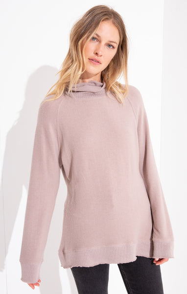 The Soft-Spun Mock Neck Pullover