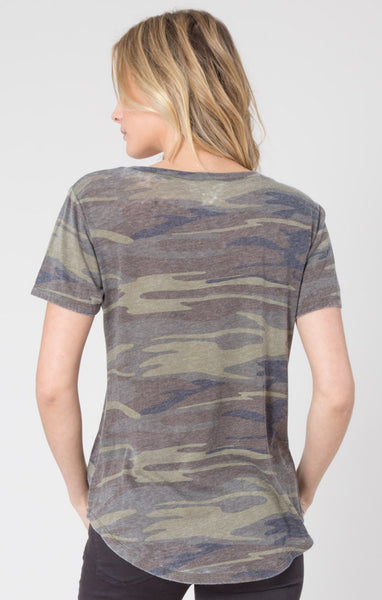 Pocket Tee Camo Green-Short Sleeve Tees - Bittersweet Ivy Womens Clothing Boutique Frisco Texas - 1