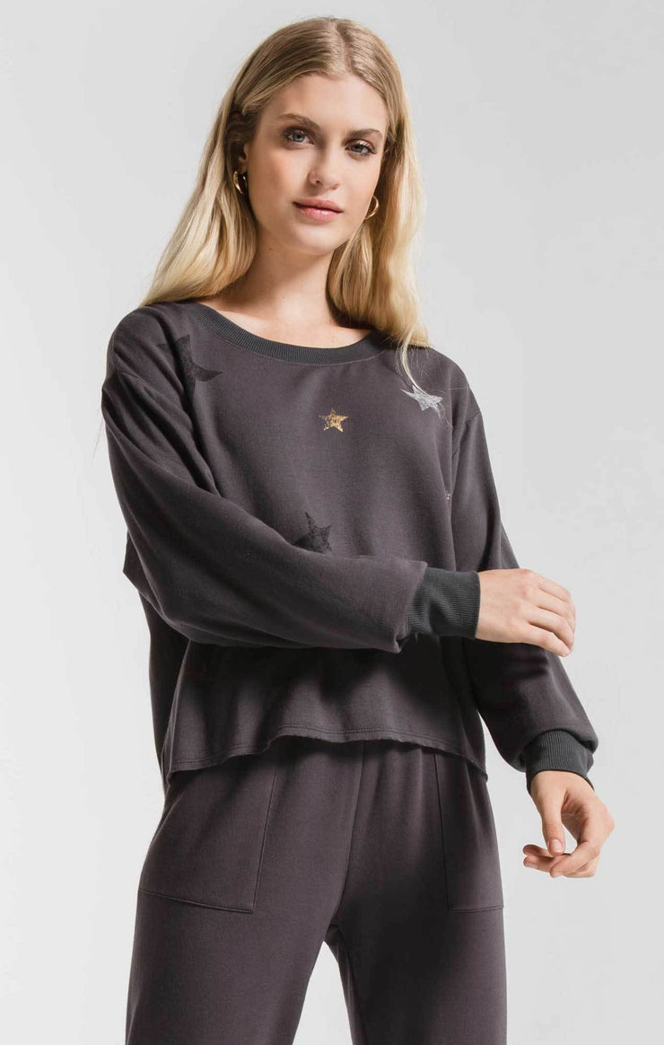 Foiled Star Pullover