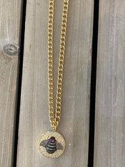 Blingy Bee Necklace