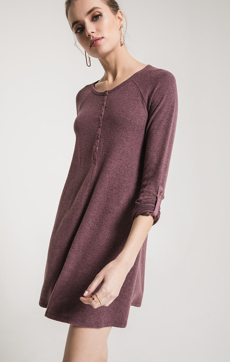 Marled Henley Dress
