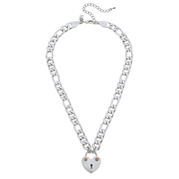 Whitney Padlock Chain Necklace