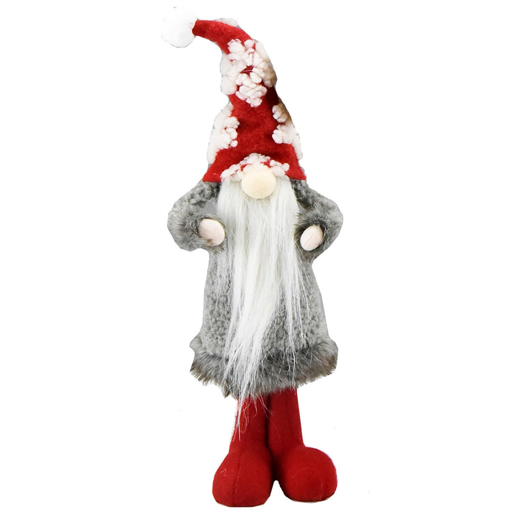 Grey Coat Gnome W/ Snowflake Hat