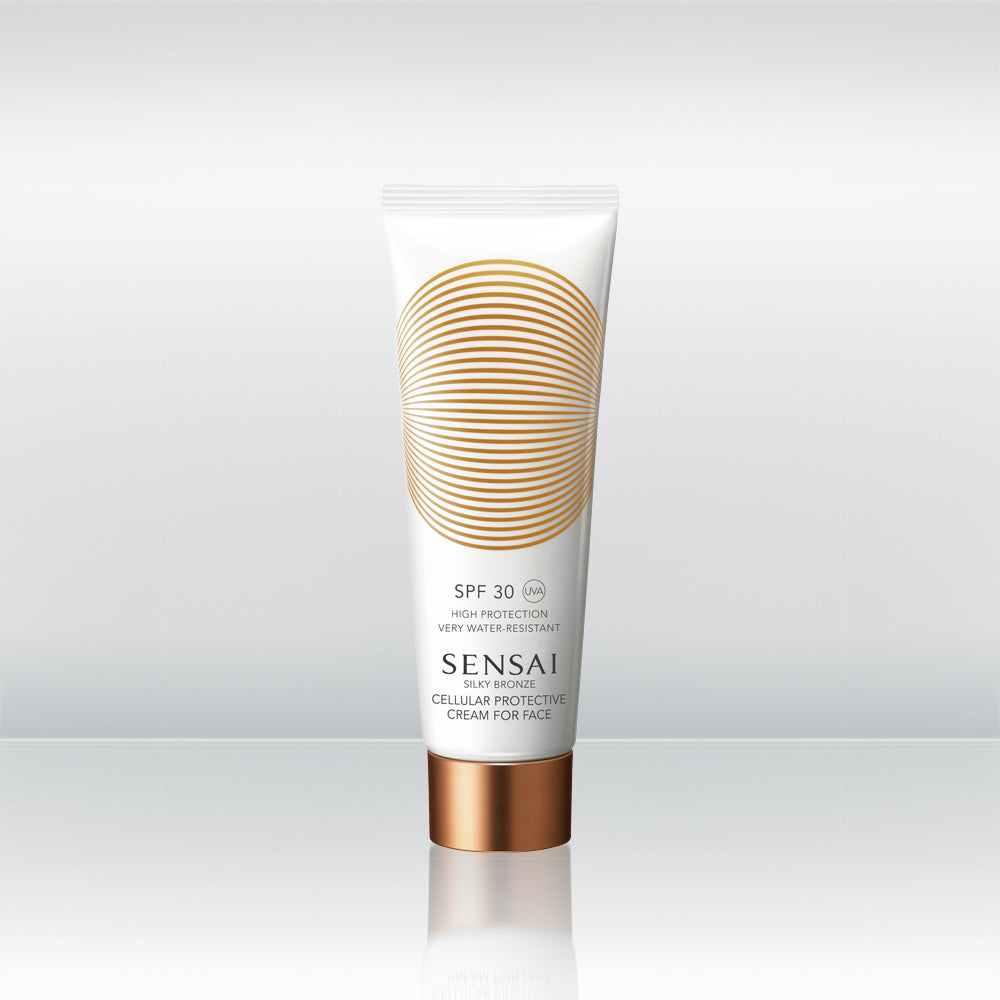 Silky Bronze Cellular Protective Cream For Face SPF 30 by vendor Sensai