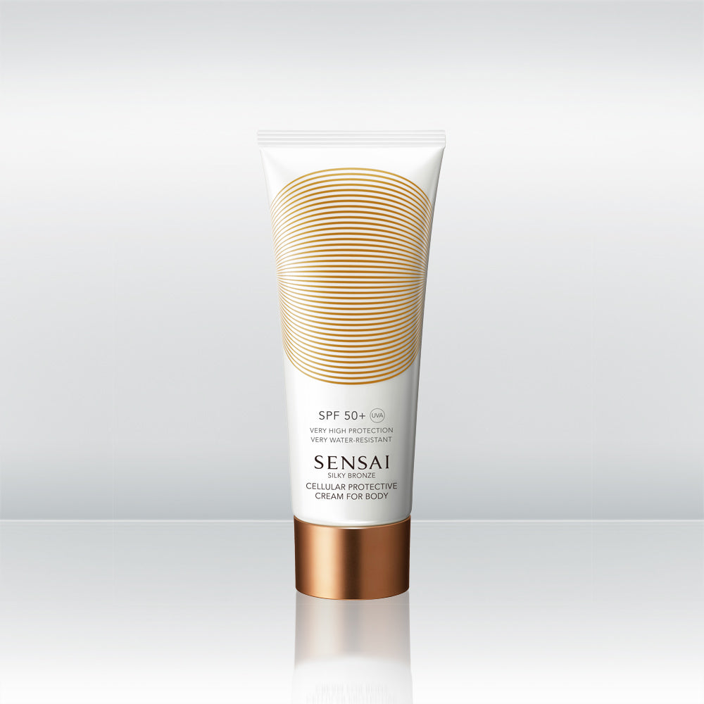 Silky Bronze Cellular Protective Cream For Body SPF50+ by vendor Sensai