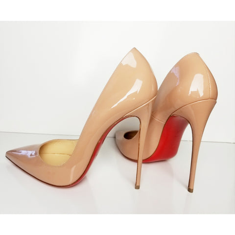 Christian Louboutin So Kate Nude Pump Size 38.5 (Fits U.S. size 7.5)