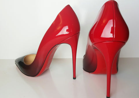 Christian Louboutin Pigalle Follies Red Degrade Pump Size 40 (Fits U.S. size 9)