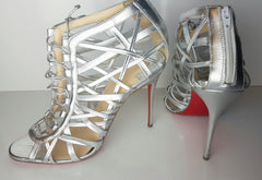 Christian Louboutin Laurence Anyway 100 Caged Ankle Sandal Size 40  (Fits U.S. sizes 8.5-9)