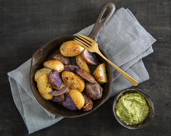 Baby Potatoes w/ Green Goddess Dressing