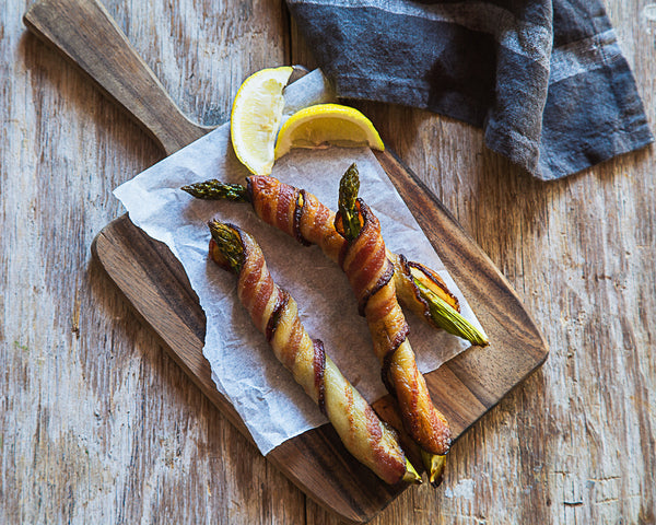 Bacon Wrapped Asparagus with Lemon