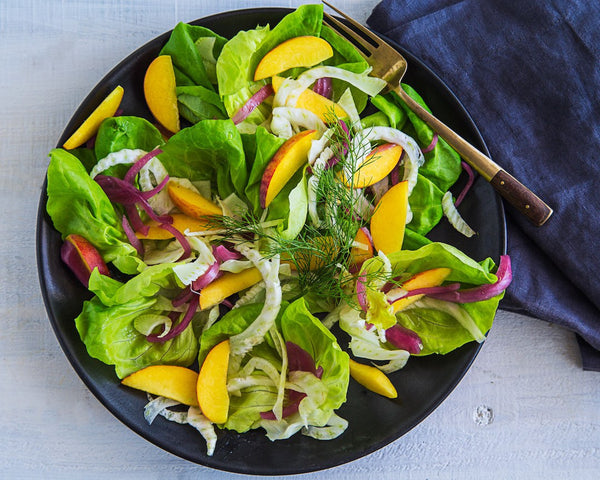 Butter Lettuce & Peach Salad