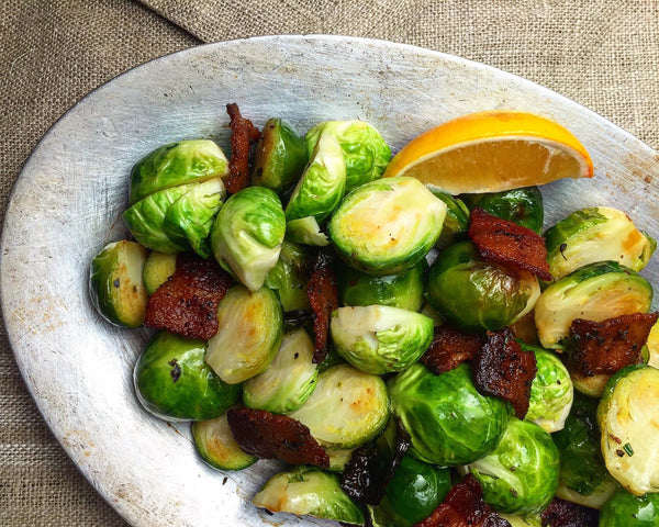 Brussels Sprouts with Bacon (Serves 2)