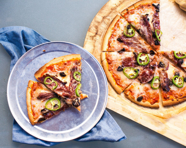 Spicy Beef and Mushroom Pizza