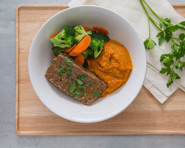 Meatloaf & Sweet Potato Mash
