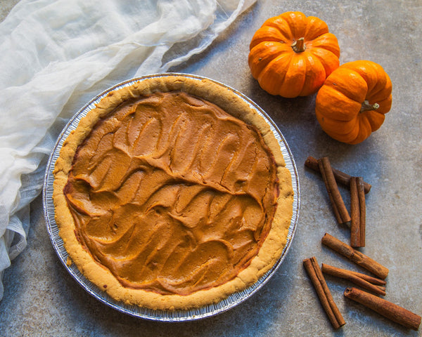 Whole Paleo Pumpkin Pie (8 Slices)