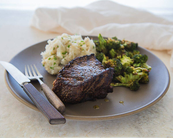 Grilled Steak w/ Yuca and Broccoli