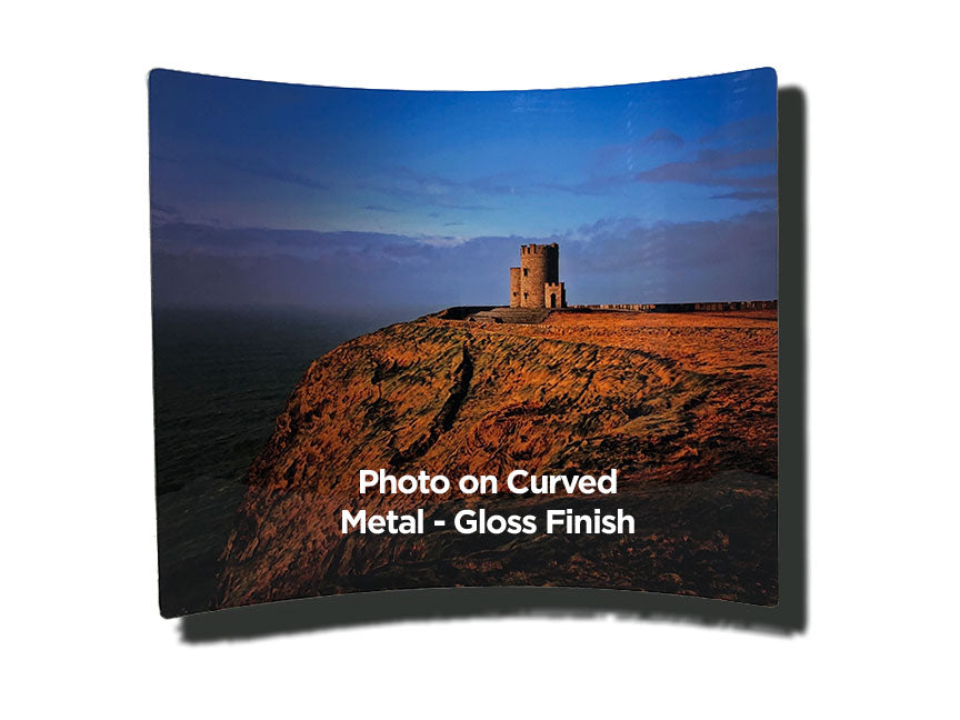 Double Sided Curved Metal Photo Panels Gloss Finish