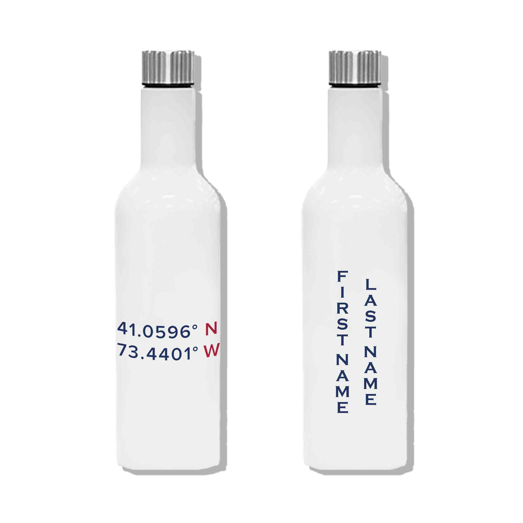 Long Necked Water Bottle 25oz - Coordinates