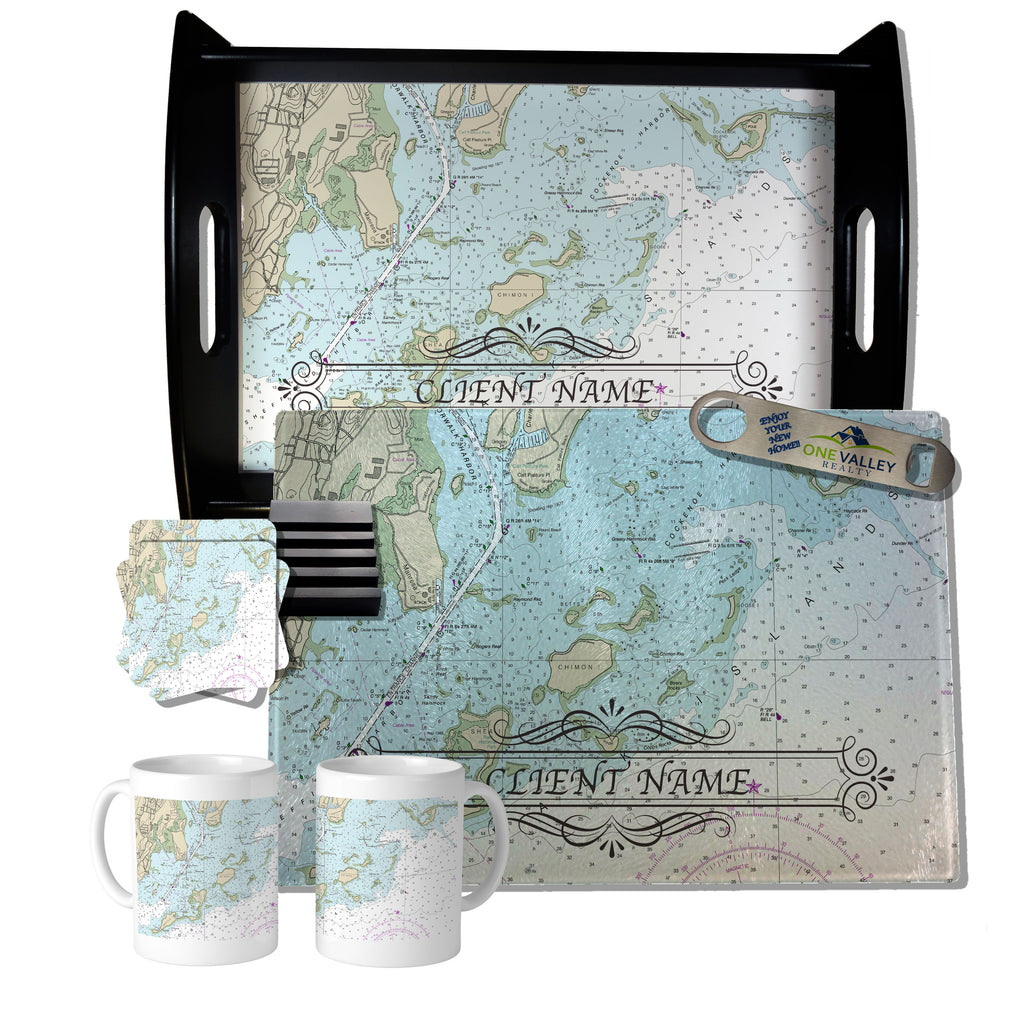 The Four Bedroom Gift Set Nautical Chart Design