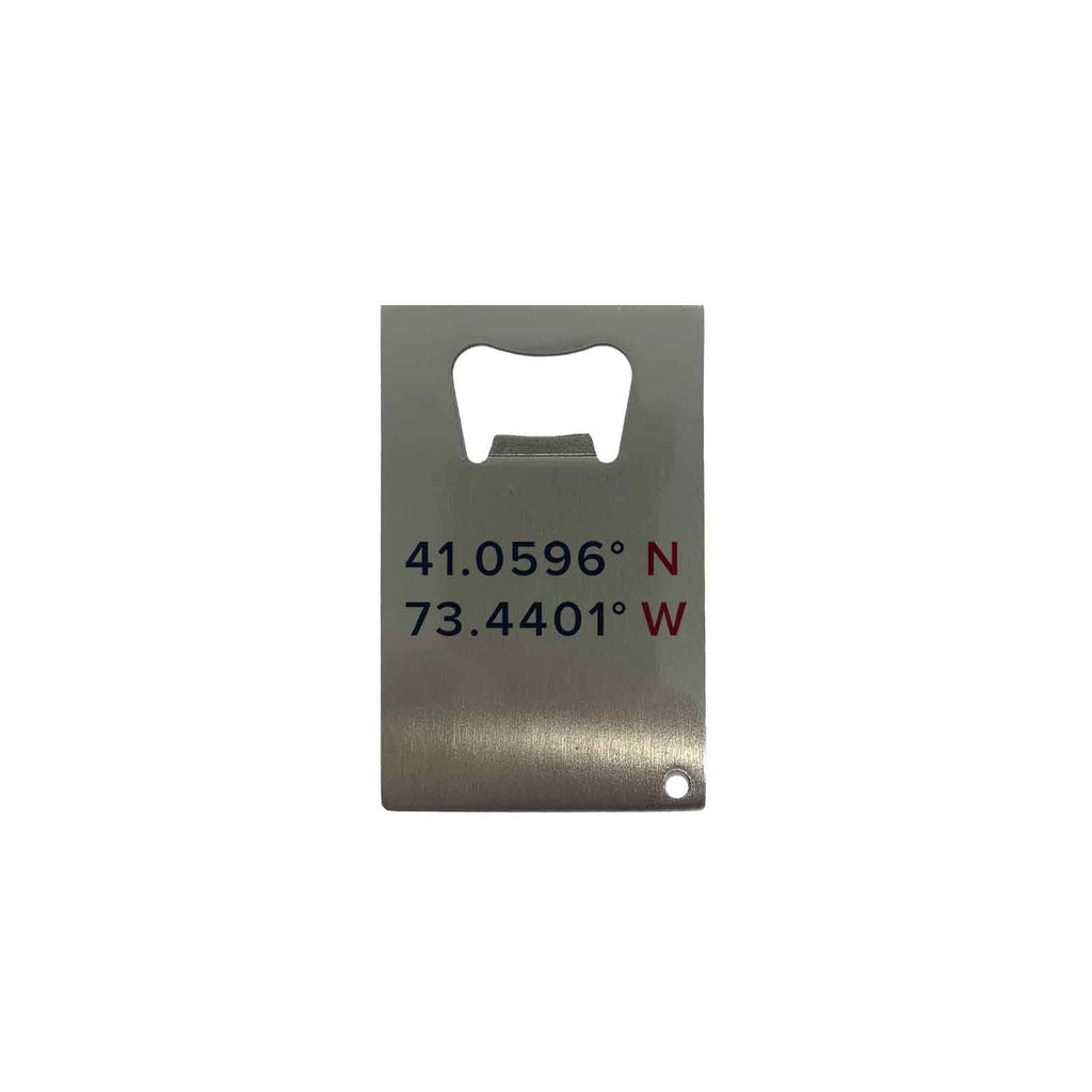 Stainless Steel Bottle Opener - Coordinates