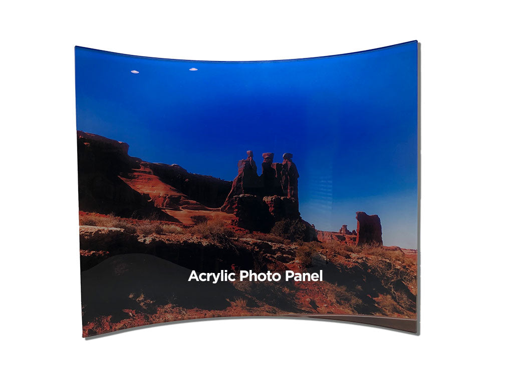 Curved Acrylic Photo Panels
