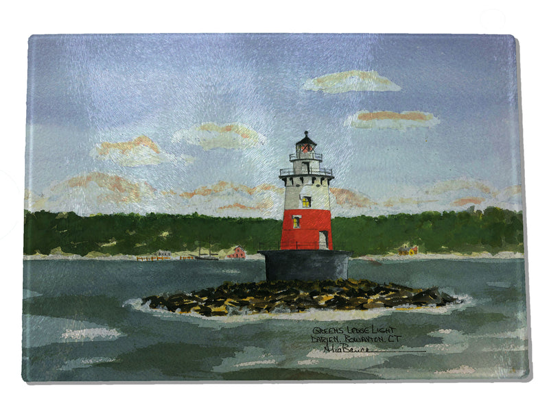 Greens Ledge Light CUTTING BOARD