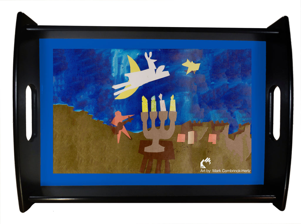 Mark H Hanukkah Serving Tray