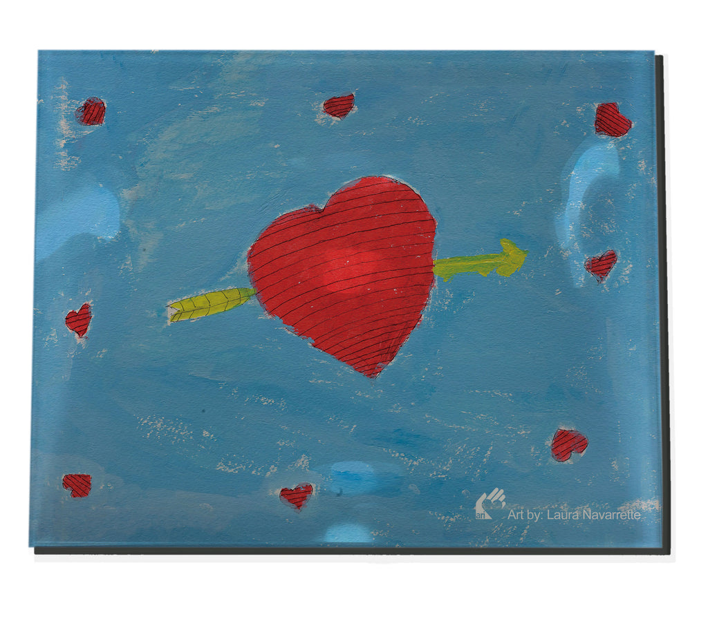Laura N Hearts Acrylic Tray