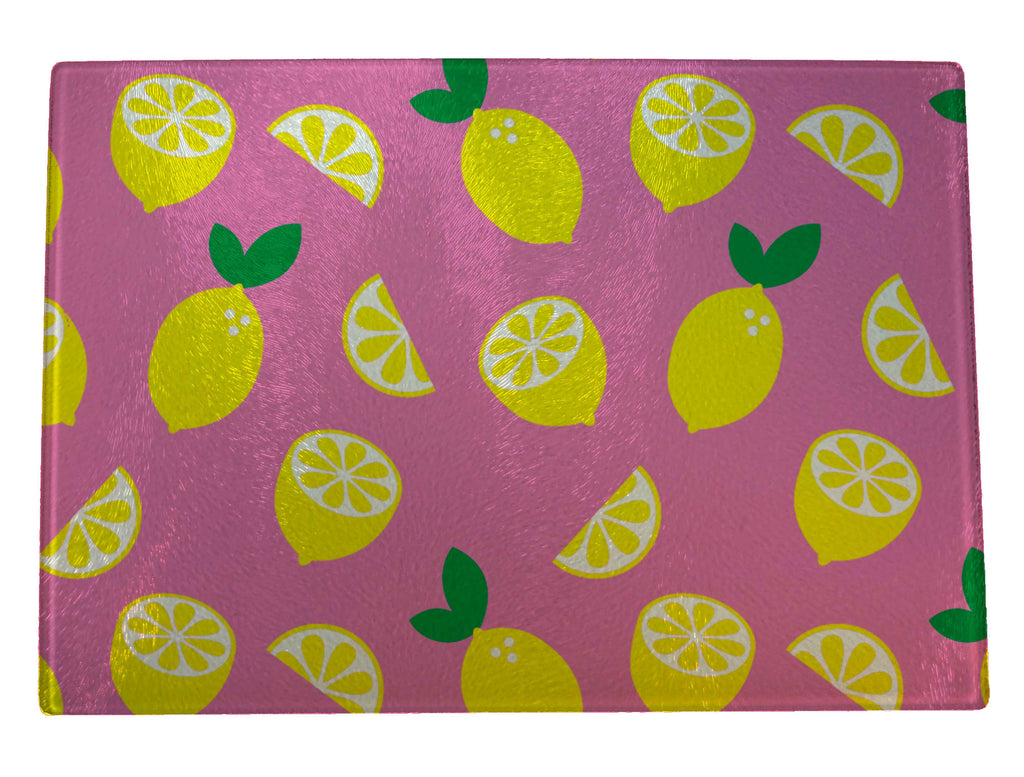 Lemons and Slices Glass Cutting Board