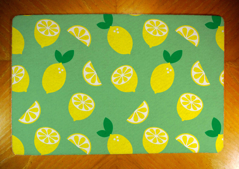 Lemons and Slices Rubber-Backed Felt Placemat