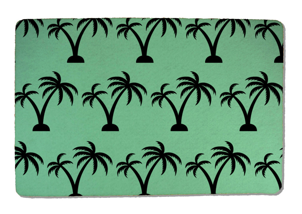Palm Trees on Rubber-Backed Felt Placemat