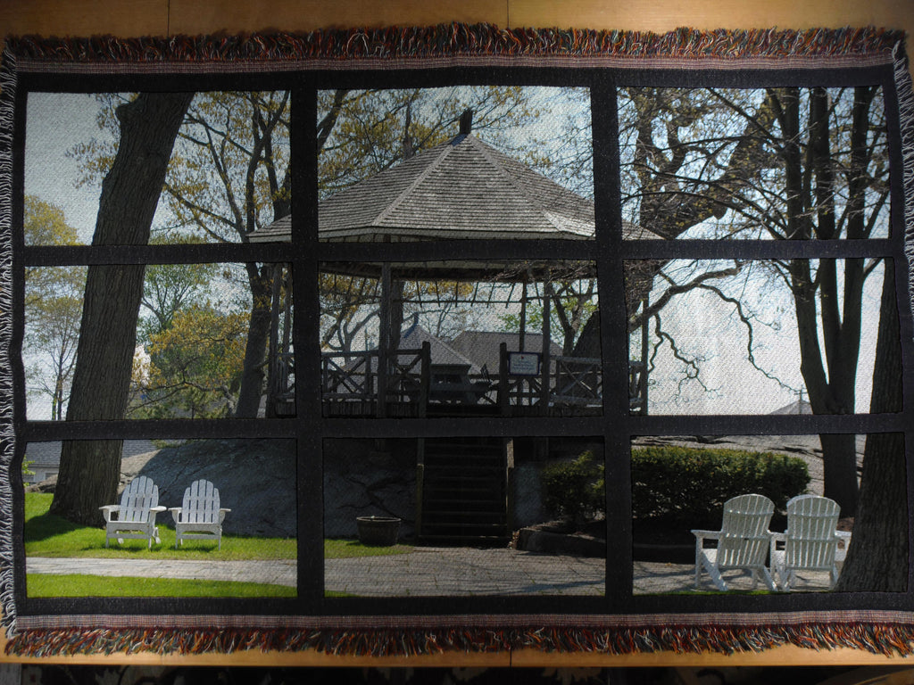 Roton Point Gazebo Mural Photo Blanket