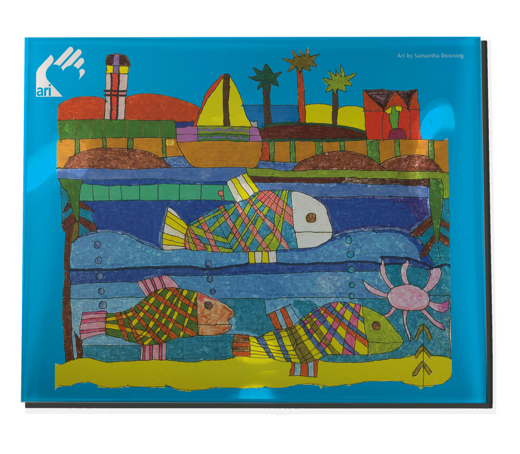 Samantha D Fish Acrylic Tray