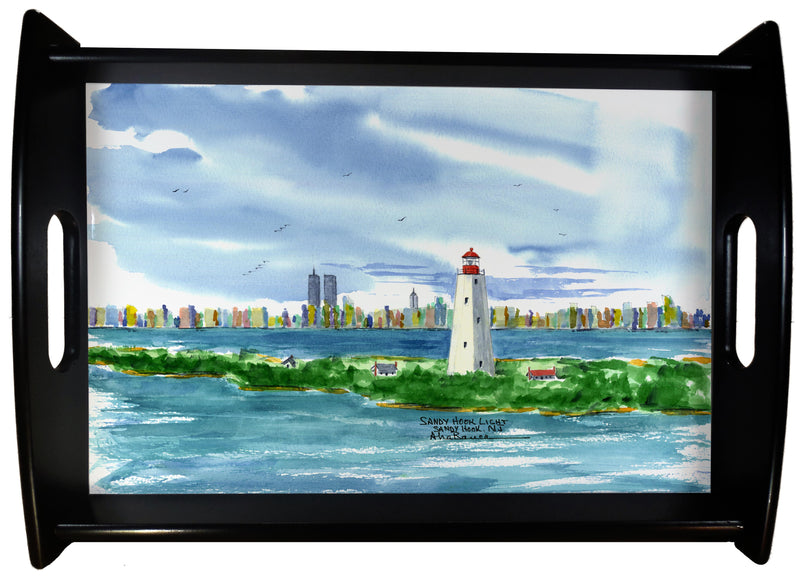 Sandy Hook Light NJ SERVING TRAY