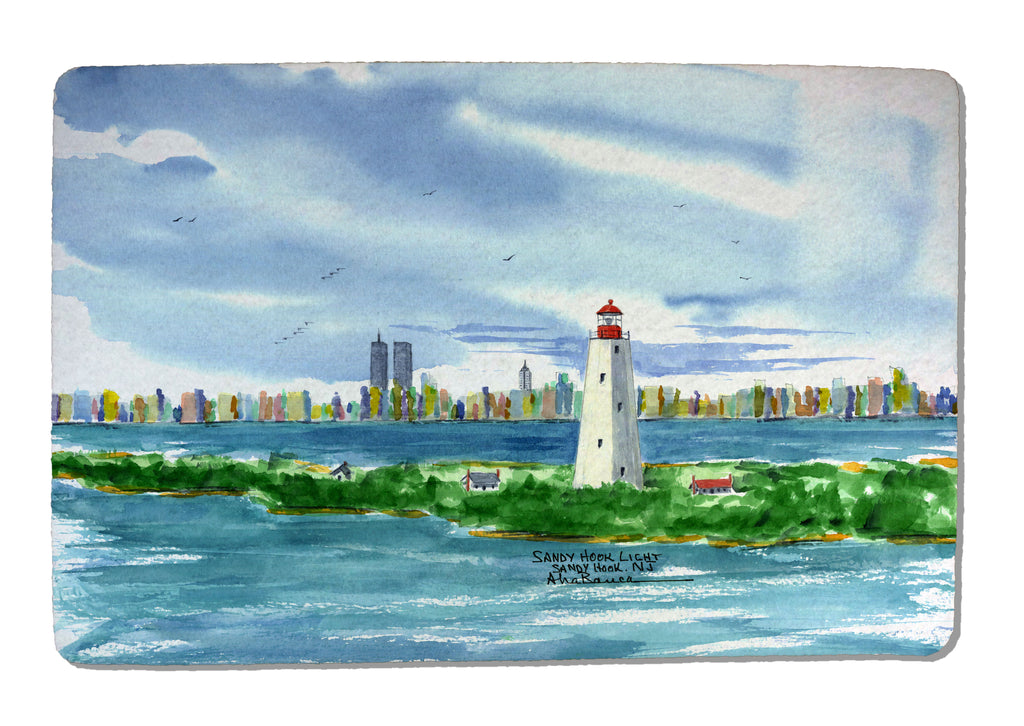 Sandy Hook NJ Light Rubber-Backed Felt PLACEMAT