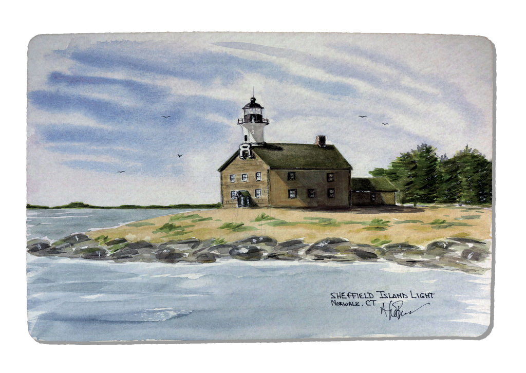 Sheffield Island Light Rubber-Backed Felt PLACEMAT