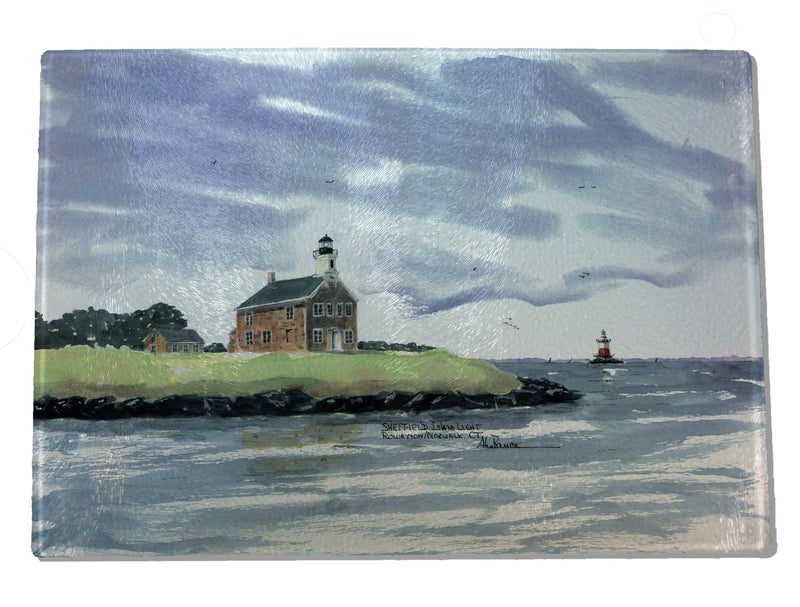 Sheffield and Greens Ledge Light CUTTING BOARD