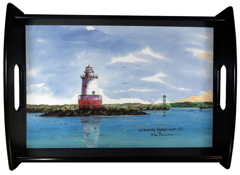 Stamford Harbor Light SERVING TRAY