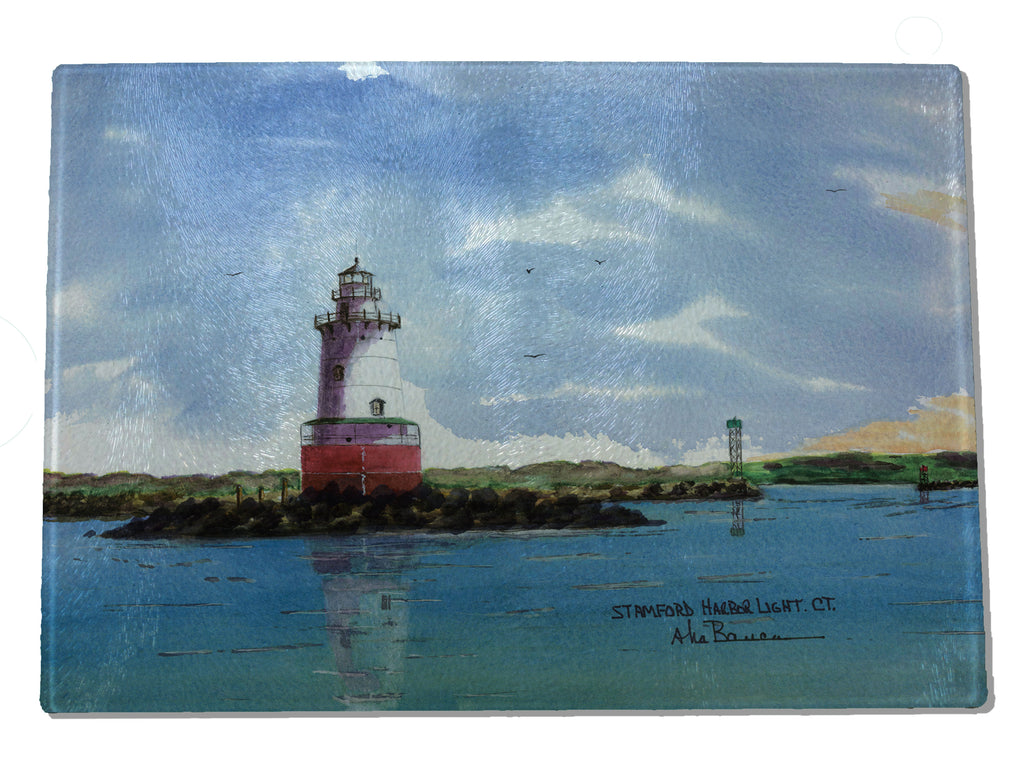 Stamford Harbor Light CUTTING BOARD