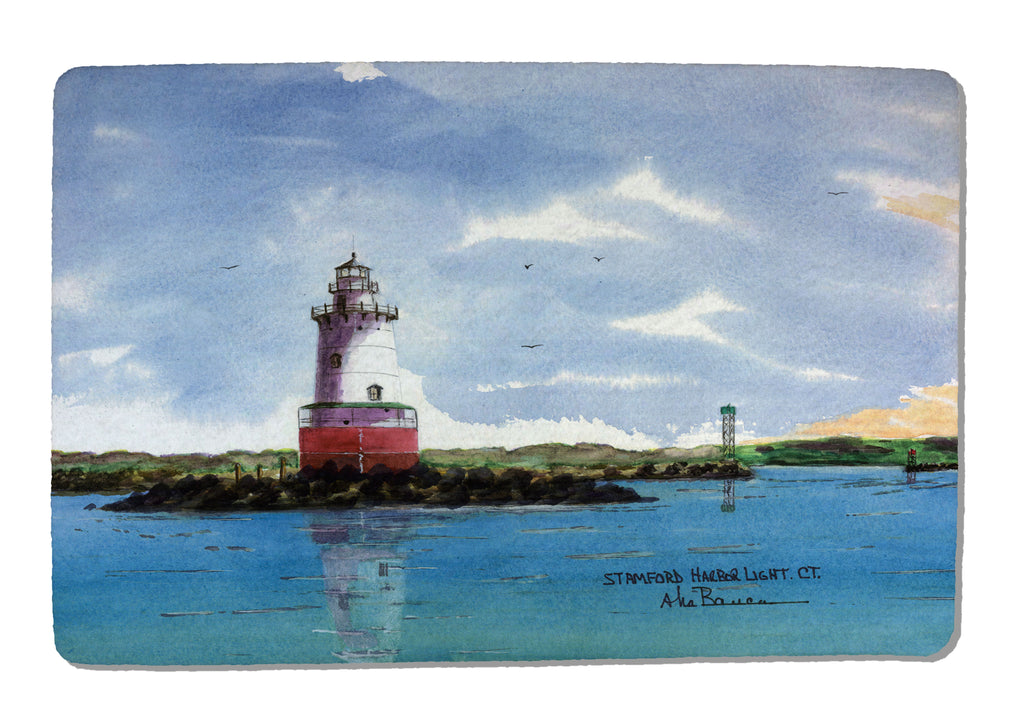 Stamford Harbor Light Rubber-Backed Felt PLACEMAT