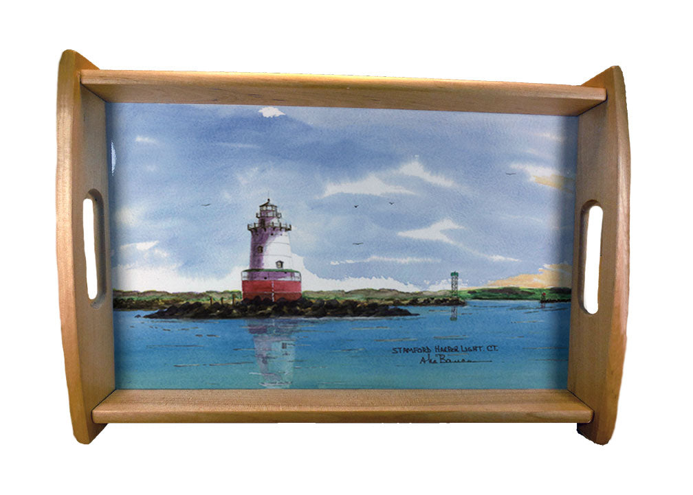 LightHouse Serving Trays Natural Wood Finish