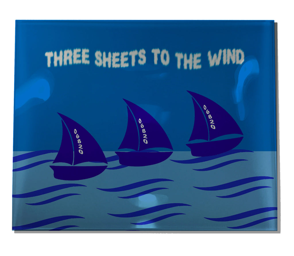 Acrylic Trays Sailboats