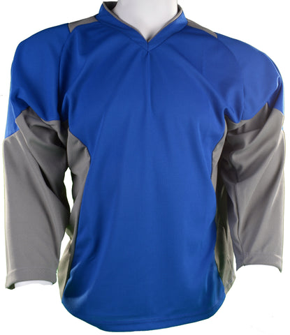 Hockey Plus practice jersey Royal/Grey