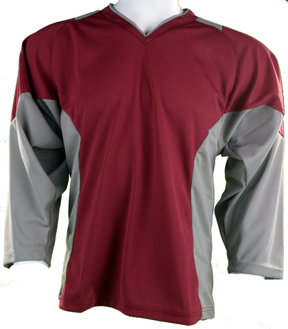 Hockey Plus practice jersey Burgandy/Grey