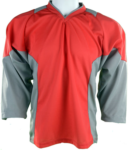 Hockey Plus practice jersey Red/Grey