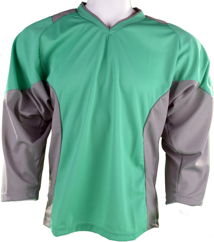 Hockey Plus practice jersey Green/Grey
