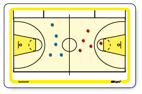 International Basketball - Magnetic and dry erase board